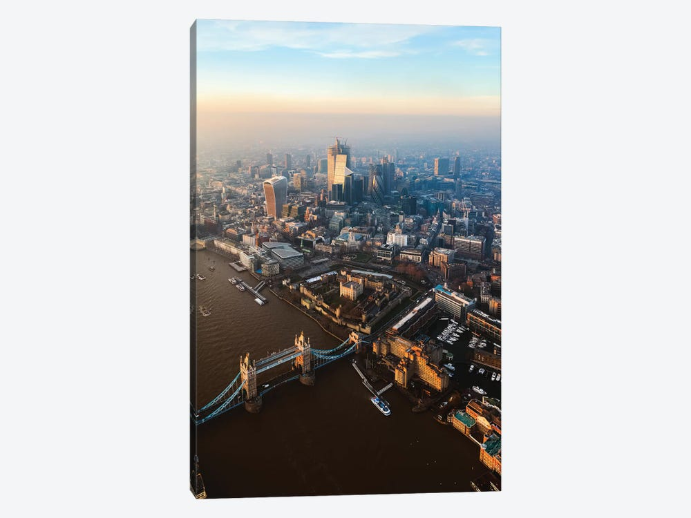 Tower Bridge And The City Of London by Matteo Colombo 1-piece Canvas Wall Art