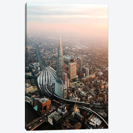 The Shard, London Canvas Print #TEO689} by Matteo Colombo Canvas Wall Art