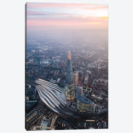 The Shard At Sunset Canvas Print #TEO691} by Matteo Colombo Art Print