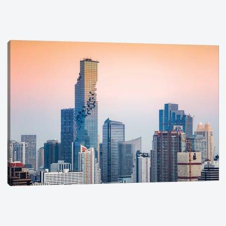 Bangkok Skyline, Thailand Canvas Print #TEO695} by Matteo Colombo Canvas Art