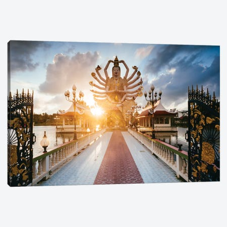 Buddhist Temple, Thailand Canvas Print #TEO696} by Matteo Colombo Canvas Wall Art