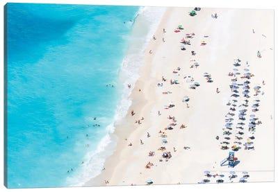 Aerial View Of Myrtos Beach IV, Cephalonia, Ionian Islands, Greece Canvas Print #TEO6