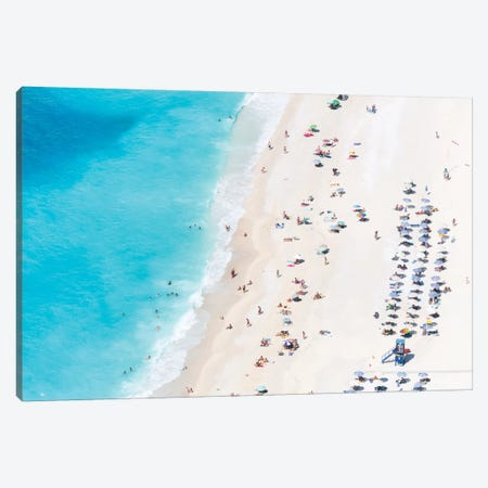 Aerial View Of Myrtos Beach IV, Cephalonia, Ionian Islands, Greece Canvas Print #TEO6} by Matteo Colombo Canvas Wall Art
