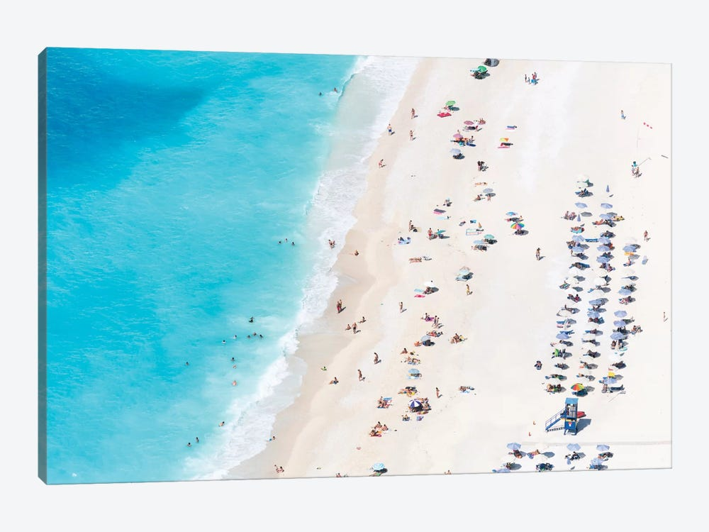 Aerial View Of Myrtos Beach IV, Cephalonia, Ionian Islands, Greece by Matteo Colombo 1-piece Canvas Wall Art