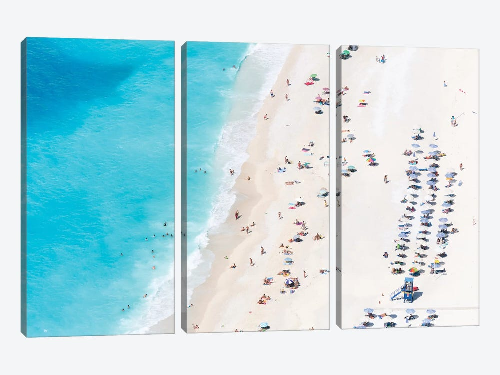 Aerial View Of Myrtos Beach IV, Cephalonia, Ionian Islands, Greece by Matteo Colombo 3-piece Canvas Art