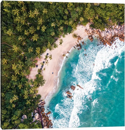 Beach Aerial, Thailand Canvas Art Print
