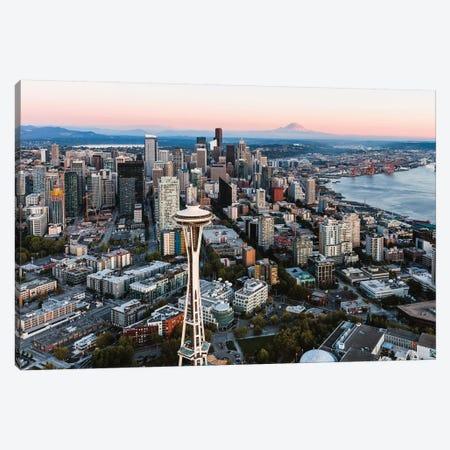 Seattle Sunset I 3-Piece Canvas #TEO709} by Matteo Colombo Art Print