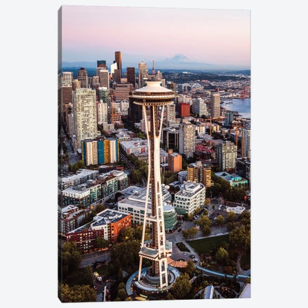 Seattle Sunset III Canvas Print #TEO711} by Matteo Colombo Canvas Art