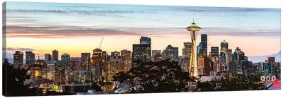 Seattle Skyline Panoramic Canvas Art Print