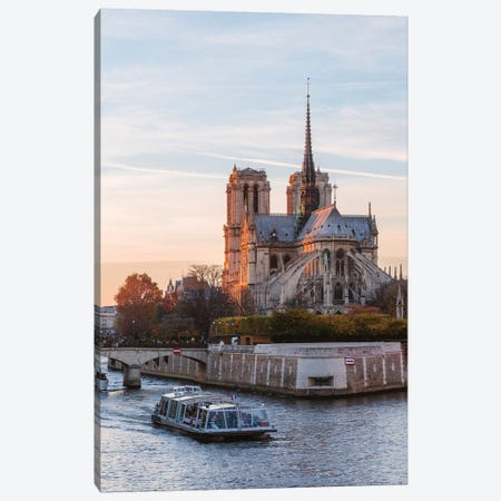 Notre Dame And River Seine Canvas Print #TEO717} by Matteo Colombo Art Print