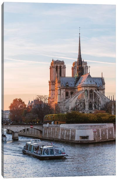 Notre Dame And River Seine Canvas Art Print