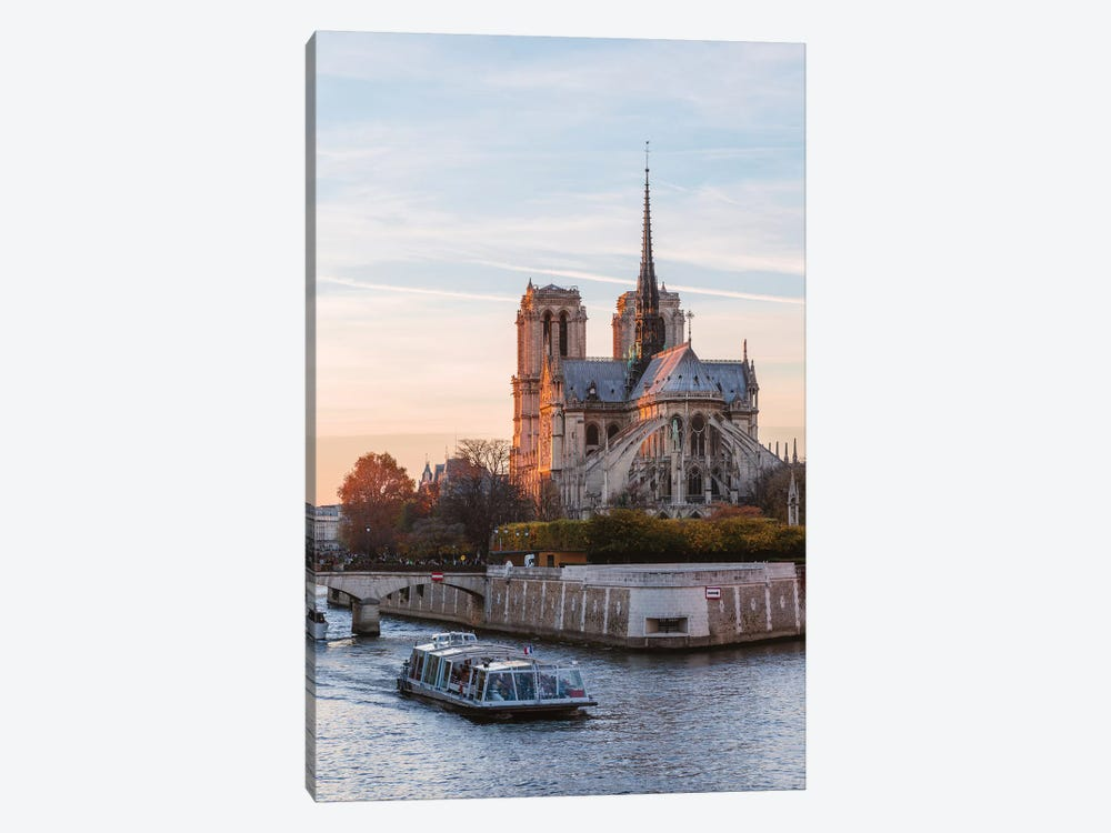 Notre Dame And River Seine by Matteo Colombo 1-piece Canvas Art Print