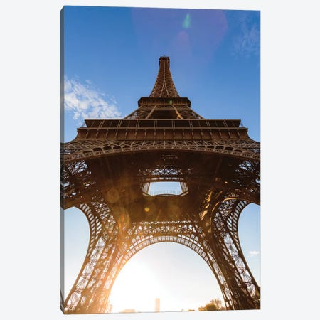 Under Eiffel Tower Canvas Print #TEO719} by Matteo Colombo Canvas Artwork