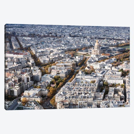 Paris Aerial With Les Invalides Canvas Print #TEO720} by Matteo Colombo Canvas Print