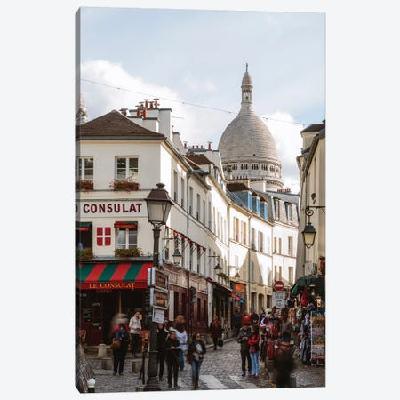 Montmartre, Paris Canvas Print #TEO724} by Matteo Colombo Canvas Art