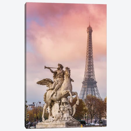 Romantic Paris Canvas Print #TEO727} by Matteo Colombo Canvas Artwork