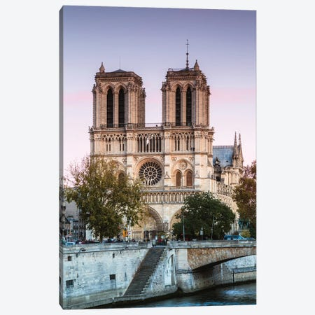 Notre Dame Sunset I Canvas Print #TEO729} by Matteo Colombo Canvas Art Print