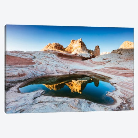Reflection Pool, White Pocket, Vermilion Cliffs National Monument, Arizona, USA Canvas Print #TEO72} by Matteo Colombo Art Print