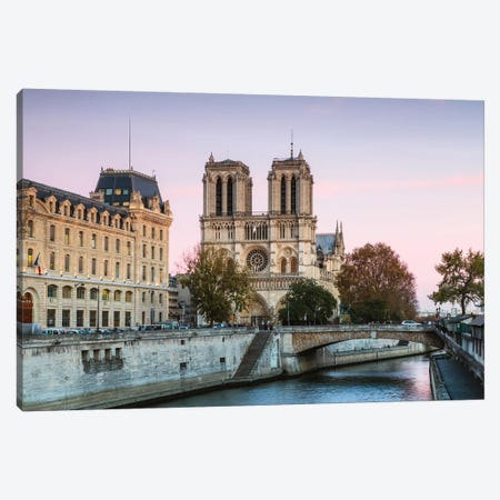 Notre Dame Sunset II Canvas Print #TEO730} by Matteo Colombo Canvas Artwork