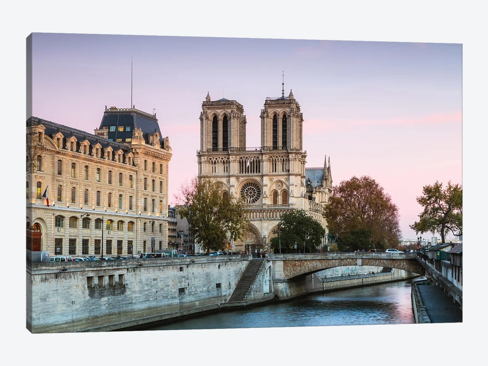 Notre Dame Sunset II by Matteo Colombo 1-piece Canvas Art