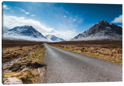Road To The Highlands, Glencoe, Scotland, United Kingdom Canvas Art Print