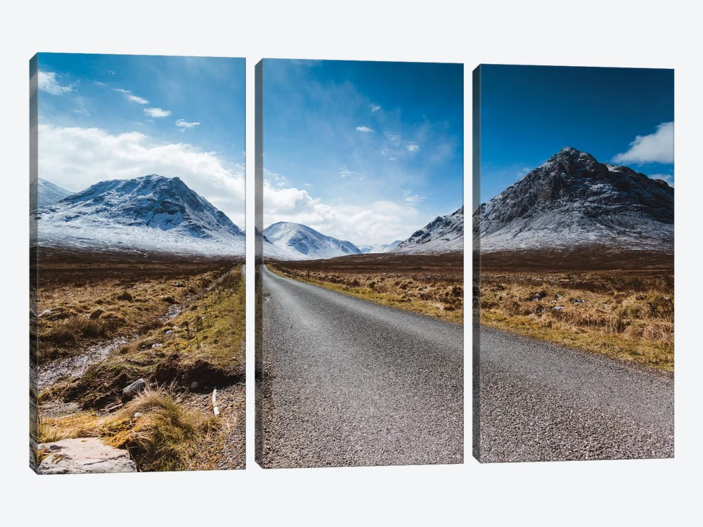 Road To The Highlands, Glencoe, Scotland, United Kingdom by Matteo Colombo 3-piece Canvas Artwork