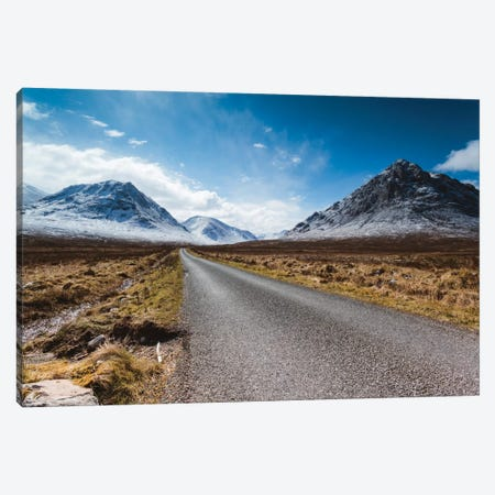 Road To The Highlands, Glencoe, Scotland, United Kingdom Canvas Print #TEO73} by Matteo Colombo Canvas Art Print
