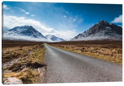 Road To The Highlands, Glencoe, Scotland, United Kingdom Canvas Art Print