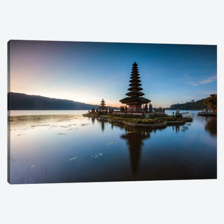 Sunset At The Temple, Bali Canvas Print #TEO741} by Matteo Colombo Canvas Art Print