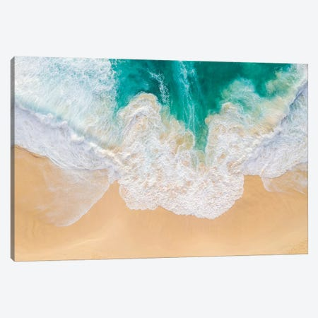 Beach And Waves II Canvas Print #TEO759} by Matteo Colombo Canvas Artwork