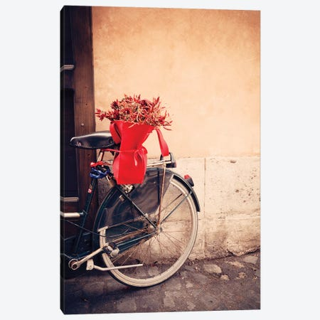 Bicycle In Rome Canvas Print #TEO763} by Matteo Colombo Art Print