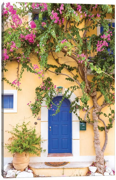 Typical Greek House Canvas Art Print
