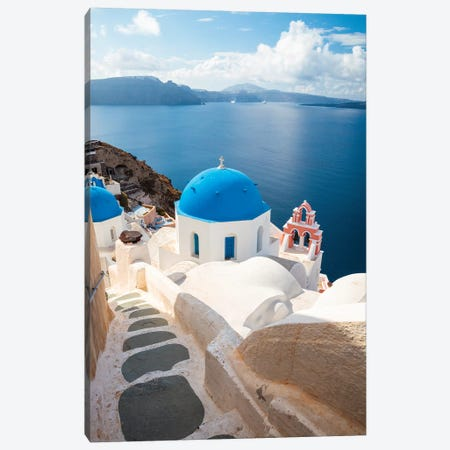 Oia, Santorini Canvas Print #TEO767} by Matteo Colombo Canvas Art