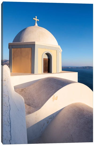 Santorini icon Canvas Art Print