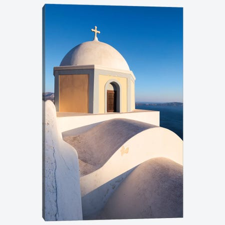 Santorini icon Canvas Print #TEO768} by Matteo Colombo Canvas Art Print