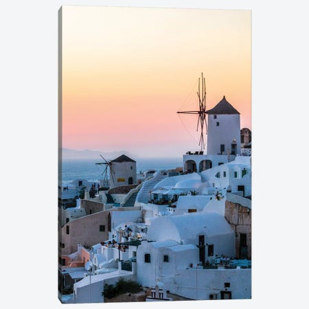 Sunset In Santorini Canvas Print #TEO769} by Matteo Colombo Canvas Print