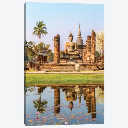 Seated Buddha, Wat Mahathat, Sukhothai Historical Park, Kingdom Of Thailand Canvas Print #TEO76} by Matteo Colombo Canvas Wall Art