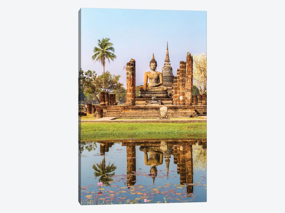 Seated Buddha, Wat Mahathat, Sukhothai Historical Park, Kingdom Of Thailand by Matteo Colombo 1-piece Art Print