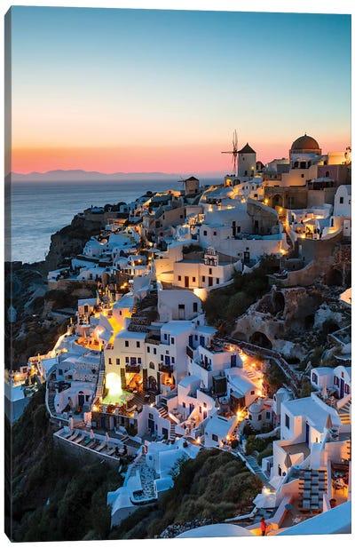 Santorini Evening Canvas Art Print