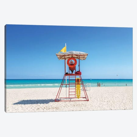 Lifeguard Post, Mexico Canvas Print #TEO773} by Matteo Colombo Canvas Wall Art