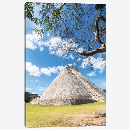 Pyramid of the magician, Uxmal, Mexico Canvas Print #TEO778} by Matteo Colombo Canvas Art