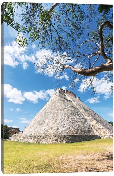 Pyramid of the magician, Uxmal, Mexico Canvas Art Print