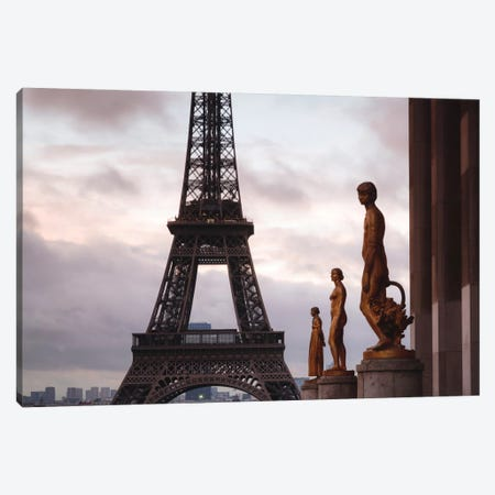Second Level, Eiffel Tower, Paris, Ile-de-France, France Canvas Print #TEO77} by Matteo Colombo Canvas Wall Art