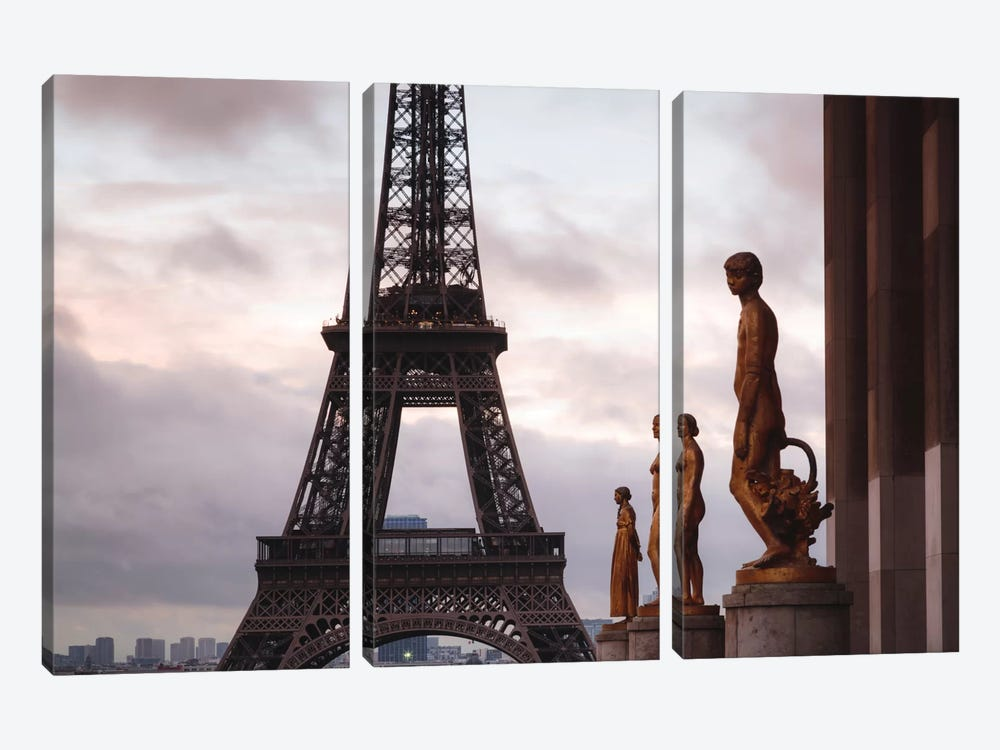 Second Level, Eiffel Tower, Paris, Ile-de-France, France by Matteo Colombo 3-piece Canvas Wall Art