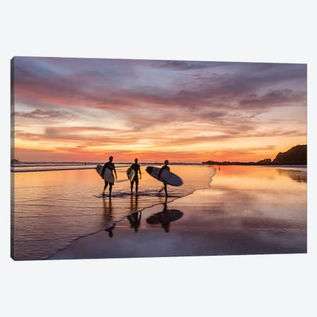 End Of The Surfing Day Canvas Print #TEO783} by Matteo Colombo Art Print