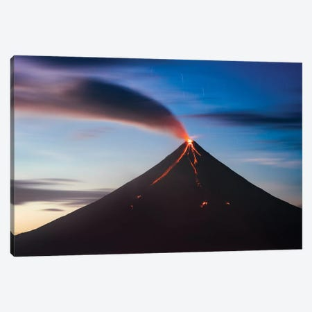 Volcano Eruption, Philippines Canvas Print #TEO786} by Matteo Colombo Canvas Artwork