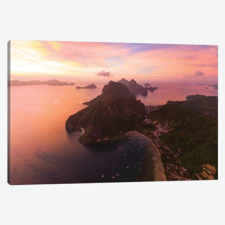 Sunset In El Nido, Philippines Canvas Print #TEO788} by Matteo Colombo Art Print
