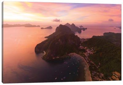 Sunset In El Nido, Philippines Canvas Art Print