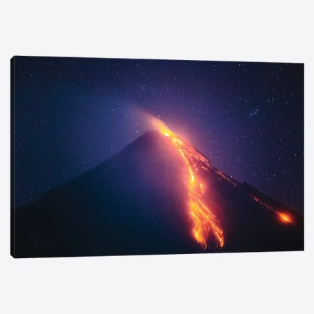 Volcanic Eruption I Canvas Print #TEO789} by Matteo Colombo Art Print