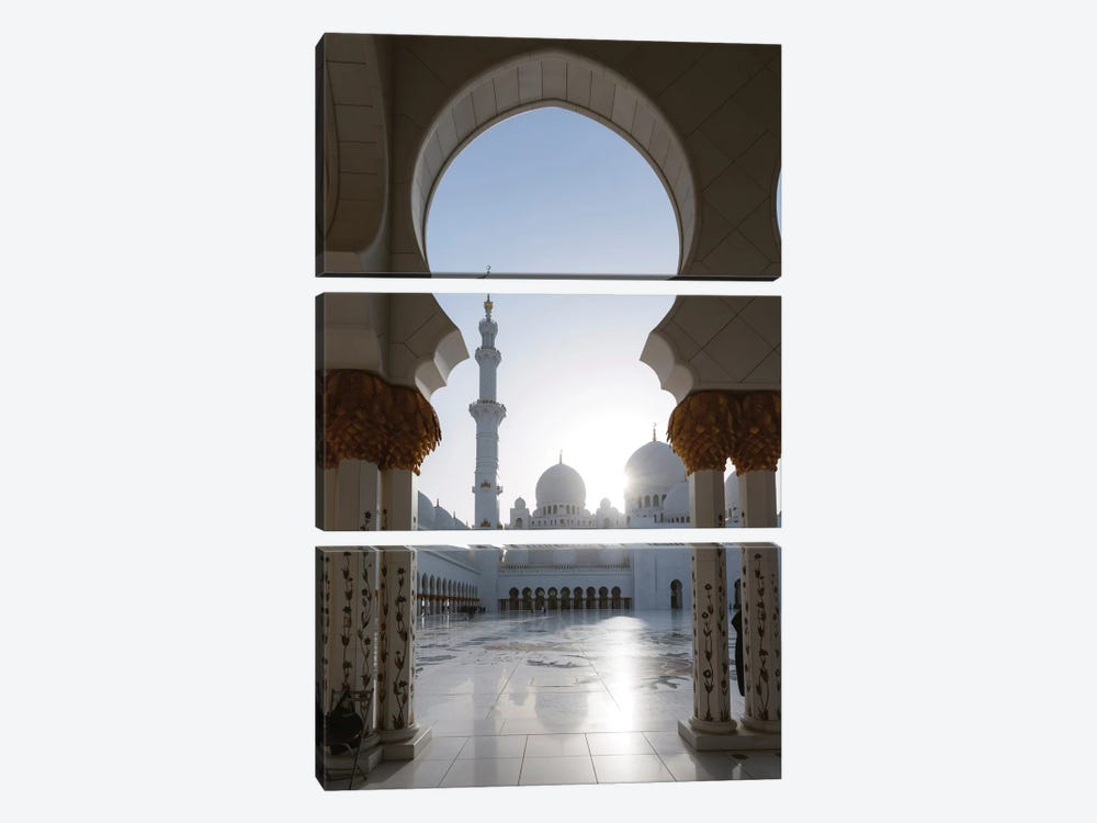 Sheikh Zayed Grand Mosque, Abu Dhabi, United Arab Emirates by Matteo Colombo 3-piece Art Print